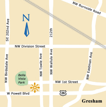 Gresham Oregon map